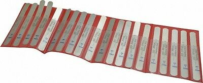 Precision Brand 20 Piece 0.03 To 0.79mm Parallel Feeler Gage Set 5 Long X 1...
