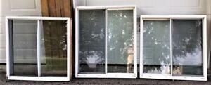 Lot de 3 fenêtres coulissantes à vendre
