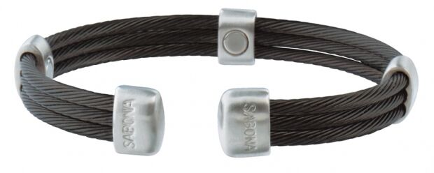 Sabona 365 Trio Cable Black Satin Magnetic Bracelet