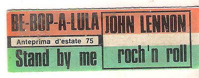STICKER JUKE BOX - JOHN LENNON - BE BOP A LULA - STAND BY ME