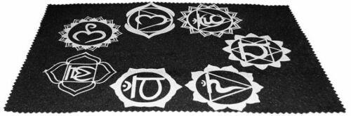 Large Velveteen 7 CHAKRA Pendulum Dowsing Divination Mat Wiccan FREE SHIP