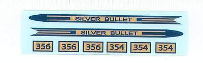 American Flyer Silver Bullet Decal Set 356, 354