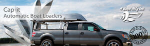 MAKE ME AN OFFER ALUMINUM TRUCK RACK WITH AUTOMATIC BOAT LOADER