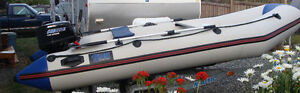 """12'5"""" Inflatable Boat and 15hp Outboard Motor"""