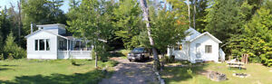 TWO WATERFRONT COTTAGE ON 2/3 ACRE...LOWER ISLAND LAKE
