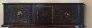 Antique Quarter-Sawn Oak Mantle Cabinet