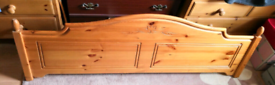 Headboard, pine, king size. Excellent condition. Complete with fixings