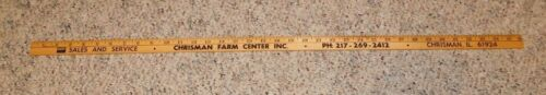 Vintage Massey Ferguson Tractors Advertising Yard Stick Chrisman IL