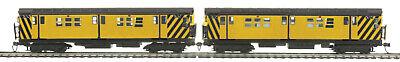 2 Car Subway Set - HO MTH New York R-17 MOW Subway 2-Car Set w/DCC and Sound 80-2371-1