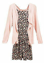 2 pieces Floral Cardigan and Dress Suit, Brand New Condition