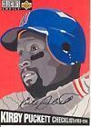 Kirby Puckett Autograph Baseball Cards