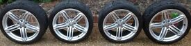 "GENUINE AUDI 19"" ALLOY WHEELS AND TYRES"