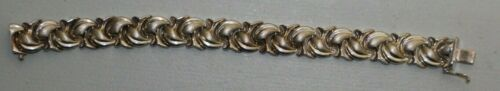 "Sterling Silver Bracelet - Modern Design Made in Turkey - Gift for Her 7.5"" 925"