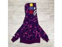 Bape hoodie purple camo WGM