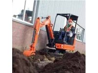 Mini Digger and operator hire, Dorset and surrounding areas.