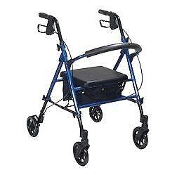 Walking Aid - Lightweight 4 Wheel Aluminium Rollator - BLUE