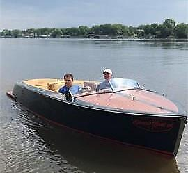 100% ELECTRIC HIGH PERFORMANCE BOAT, RUNABOUT, CHRIS CRAFT, RIVA
