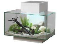 Fish tank fluval edge 23 litre in white