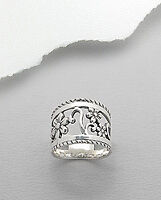 ***NEW ring - Sterling Silver  Flower design***