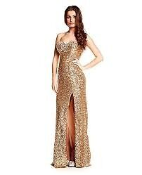 Brand New with Tags Gold Kiera Ruby Prom/ Evening Dress size 12