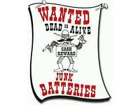 Wanted old car van and lorry batteries