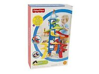 FISHER PRICE LITTLE PEOPLE SKYWAY CARS SLIDE INCLUDING TWO CARS