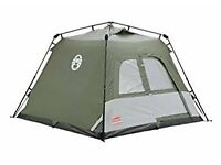 Pop Up 4 Man tent, Coleman. 1 year old used twice.