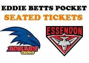 1-4 Essendon Bombers v Adelaide Crows Tickets North Adelaide Adelaide City Preview