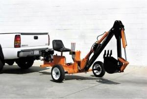 HOC - TOWABLE RIDE ON EXCAVATOR TRENCHER BACKHOE + 1 YEAR WARRANTY + FREE SHIPPING