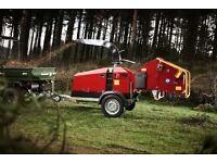 "FOR HIRE 6"" TP WOOD CHIPPER GREENMECH MULCHER SHREDDER TREE SURGEON £50 PER DAY CHEAPEST IN BELFAST"
