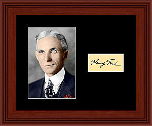 Henry Ford Matted Photo Display 8X10 Autograph