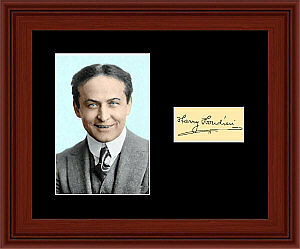 Harry Houdini Matted Photo Display 8X10 Autograph Magician Magic