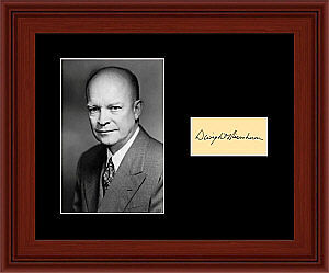 Dwight D Eisenhower Matted Photo Display 8X10 Autograph Ike President
