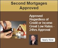 Fast Second Mortgages & Private Loans -No creidt/Income Required