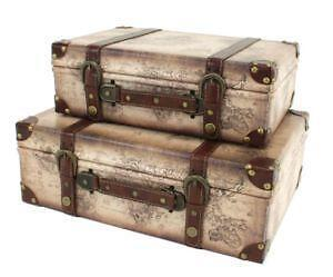 Leather trunk ebay vintage leather trunks gumiabroncs Gallery