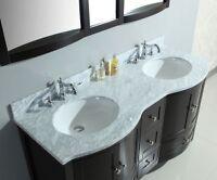 "Destiny 60"" Double Sink Bathroom Vanity"