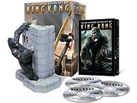 King Kong 3 Disc DVD gift Set inc. Figure - New and Sealed