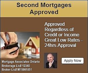 Second Mortgage in Kitchener - No Credit/Income Required
