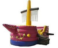 Jeu gonflable bateau pirate commercial flambant neuf