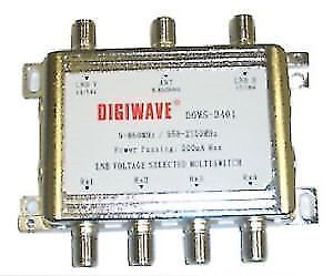 Digiwave 3x4 MultiSwitch FTA Satellite Dish Network Bell *NEW*