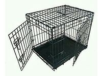 "Black Ellie bo 24"" Dog Crate Cage"