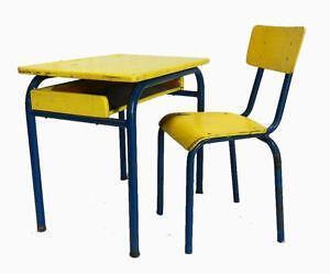 Vintage Metal School Desks