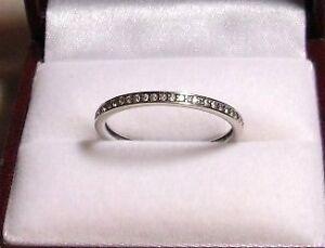 14kt White Gold - approx .40 tcw Diamond Eternity/Wedding Band