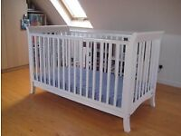 Excellent condition John Lewis Cot Bed