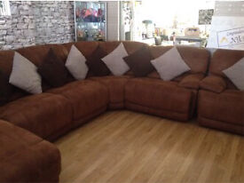 Bargain Large Corner Sofa with an extra chair.