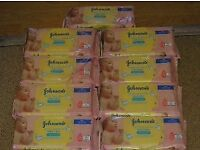 9 packs of Johnson's Extra Sensitive Baby Wipes for £5