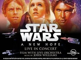 4 x TICKETS TO SEE STAR WARS: A NEW HOPE LIVE AT ROYAL ALBERT HALL, LONDON