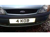 """""""4 KOB"""" - Personalised Number Plate for Sale"""