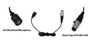 Wired Lavalier Mini XLR Uni-Directional Microphone