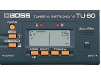 Boss TU80 Tuner & Metronome, Mint Condition